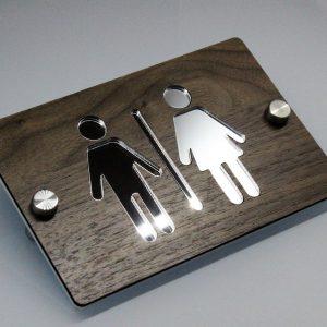 Bild3 1 300x300 - WC Schild Toilettenschild Modern aus Holz