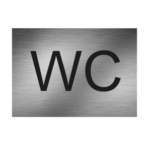 WC Schild Türschild Toilettenschild Edelstahl