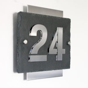 Hausnummernschild Edelstahl Modern