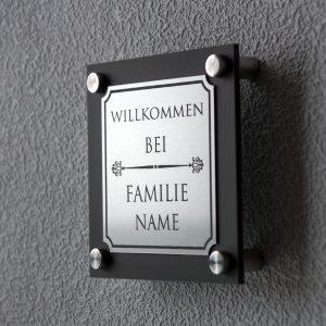 6 300x300 - Türschild Anthrazit Modern Familienname Gravur
